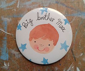 Personalised Big Brother Badge - baby & child