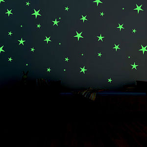 Glow In The Dark Star Wall Stickers - living & decorating