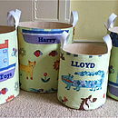 Toy Storage Tubs In Liberty Fabrics For Boys