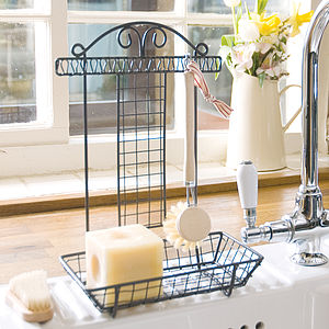 Kitchen Sink Tidy With Brush - utensil holders