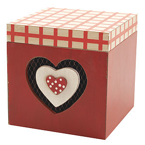 Wooden Heart Treasure Box - storage & organisers