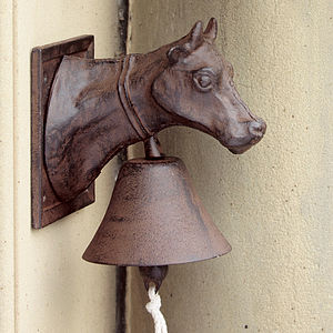 Cow Head Door Bell - art & decorations