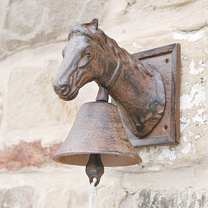 Cast Iron Horse Head Door Bell - art & decorations