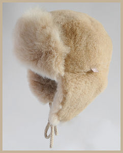 Alpaca Fur Trapper Hat For Children - babies' hats