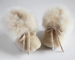 Alpaca Fur Slipper Boots For Children - shoes & footwear