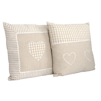 Set Of Two Cottage Cushions