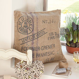 French Post Card Cushion - cushions