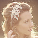 Anais Beaded Lace Headpiece/Headband