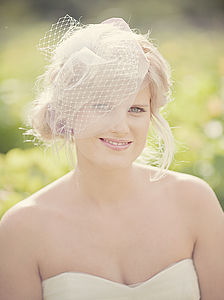 Bethany Tulle Birdcage Blusher Veil Choose Your Colour - bridal hairpieces