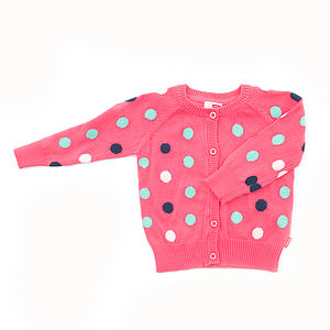 Daninulla Cotton Long Sleeve Cardigan - children's clothing