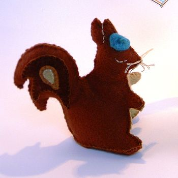 bright red squirrel