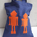 Child's Robots Or Chickens Bag