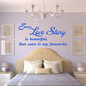 'Every Love Story Is Beautiful' Wall Sticker - interior accessories