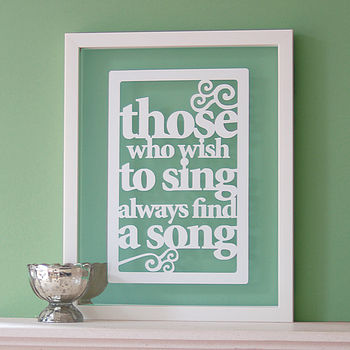 'Those Who Wish To Sing' Papercut Art