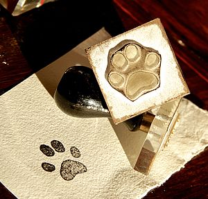 Personalised Cat Paw Print Miniature Stamp - create & make