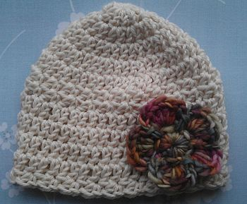 Organic Merino Cream with Athena Flower