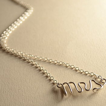'Mrs' Silver Necklace