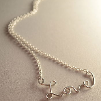 'Love' Silver Necklace