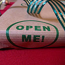 'Open Me!' Screen Printed Wrapping Paper