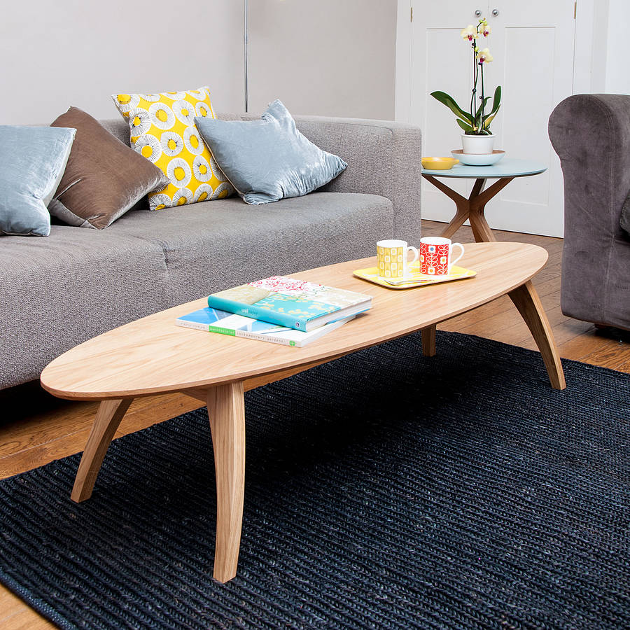surf coffee table by obi furniture notonthehighstreetcom With surf coffee table