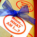 Mmm… What Am I? Handmade Wrapping Paper