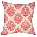 Damasutra Cushion Pink Faux Suede Square