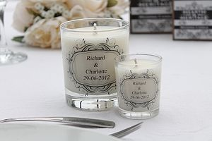 Personalised Scented Wedding Candle Favour - living & decorating