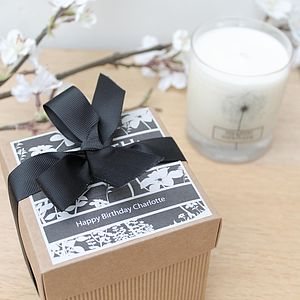 Scented Candle In A Personalised Gift Box - table decorations
