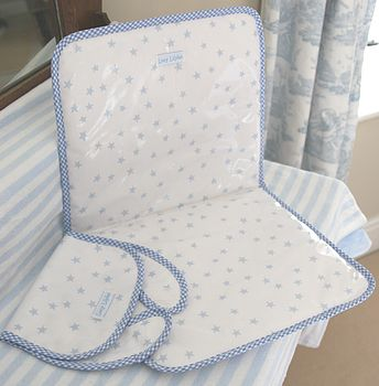Blue Star Baby Changing Mat and Bib Gift Set