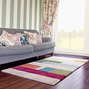 Merino Wool Lateral Stripe Rug