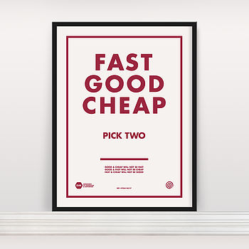 'Fast Good Cheap' Screen Print Edition Two