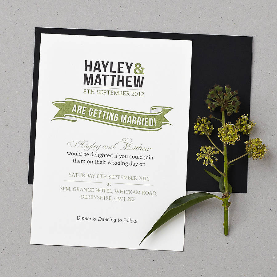 baker street wedding invitation set by doodlelove notonthehighstreet