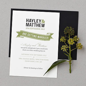 Baker Street Wedding Invitation Set - wedding stationery