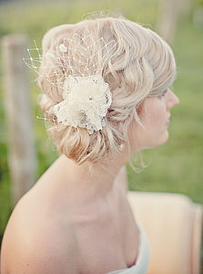 Ana Lace Headpiece - bridal hairpieces