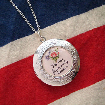 Do Not Fear Only Believe Locket Necklace