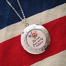 Do Not Fear Personalised Locket Necklace