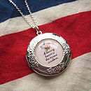 A Loving Heart Personalised Locket Necklace