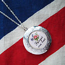 Forget Me Not Personalised Locket Necklace