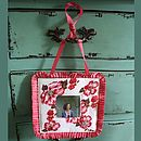Floral Beaded Hanging Photoframe