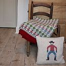 Blanket and Cowboy cushion