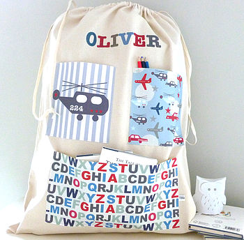 Boy's Personalised Storage Bag