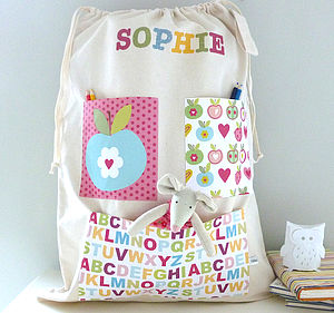 Girl's Personalised Storage Bag - children's room