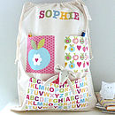 Girls Personalised Storage Bag