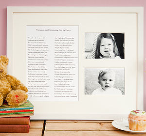 Bespoke Christening Poem Framed With Photos - christening gifts