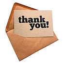 Set Of 12 Thank You Note Cards
