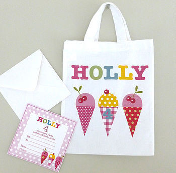Girl's Invite And Party Bag Set Of 10