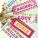 Girl's Personalised Gift Tags Set Of 10
