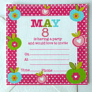 Girls Personalised Party Invitations