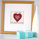 personalised embroidered valentine's picture