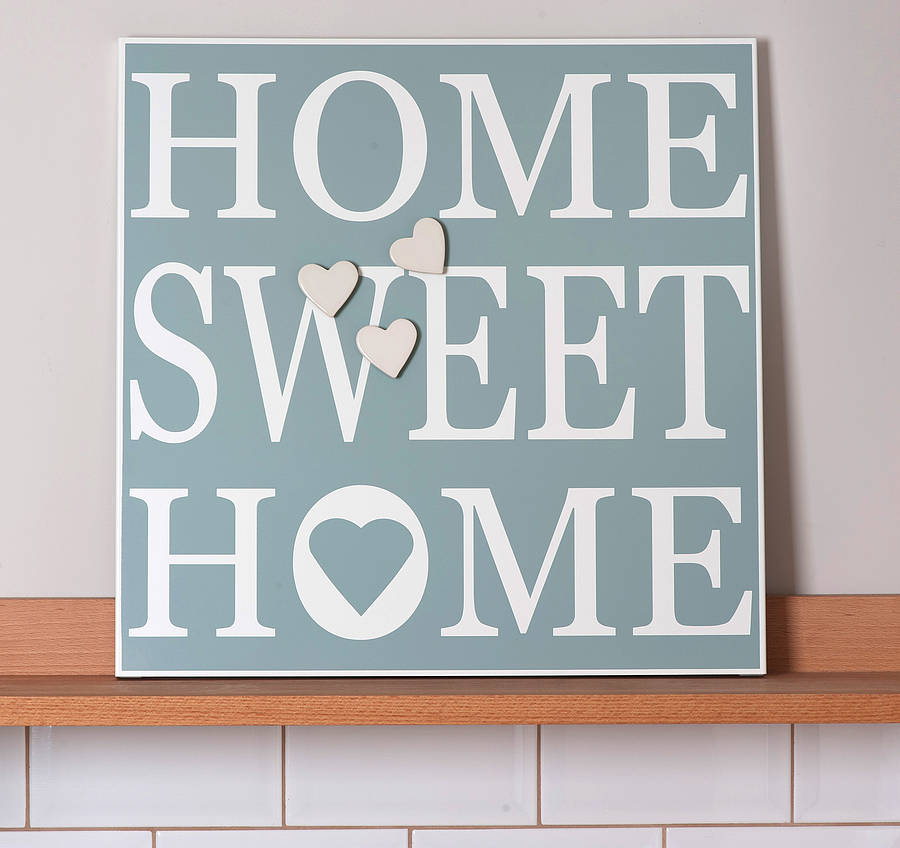 magnetic notice board 39 home sweet home 39 by green co